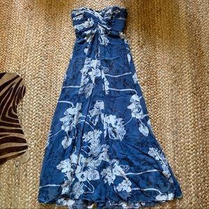 Tadashi Silk Strapless Maxi Gown